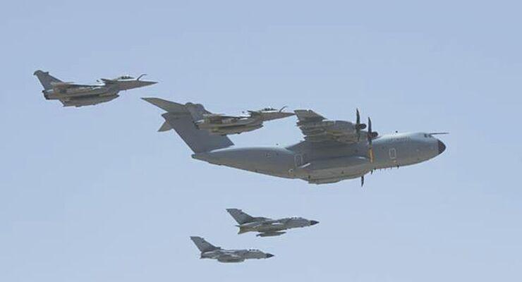 Airbus A400M der Luftwaffe für Tankereinsatz in Jordanien.