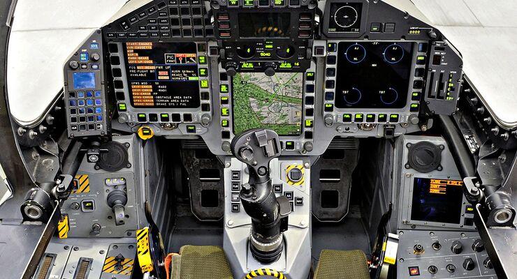 Cockpit of RAF Typhoon Fighter