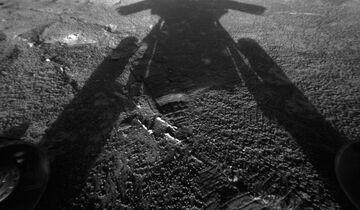 Der Rover als Schattenriss.