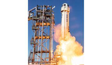 Die Rakete hob am Morgen des 2. Mai von dem Startgelände in Texas ab.