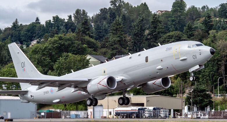 Die erste Boeing P-8A Poseidon für die RAF flog am 12. Juli 2019