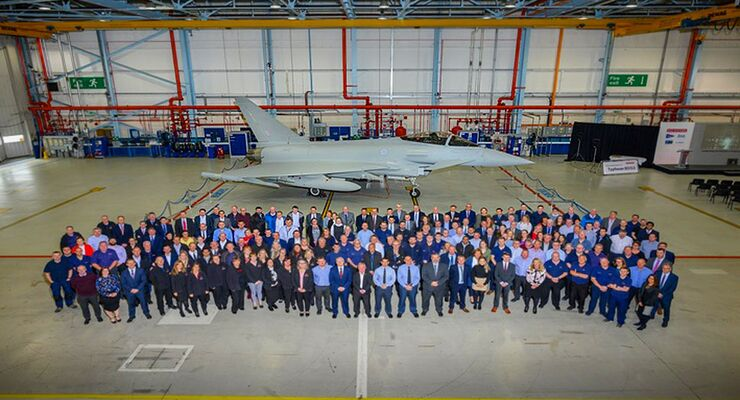 Letzter Eurofighter Typhoon für die Royal Air Force bei BAE Systems (September 2019).